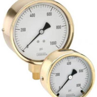 Brass Case Liquid Filled Gauge