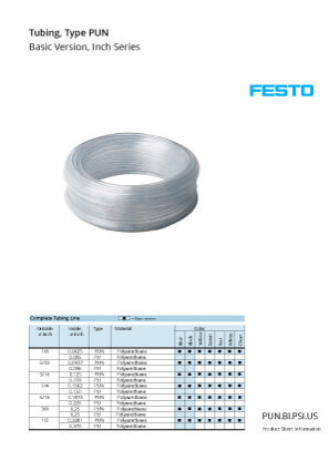 Festo Tubing Catalog